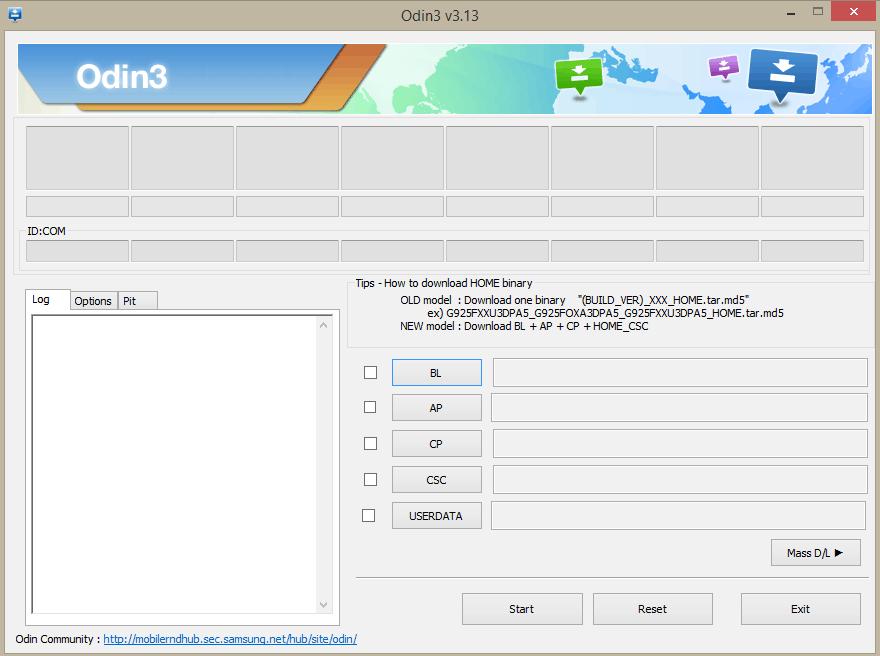 دانلود نرم افزار Odin تمامی نسخه ها برای کامپیوتر سامسونگ