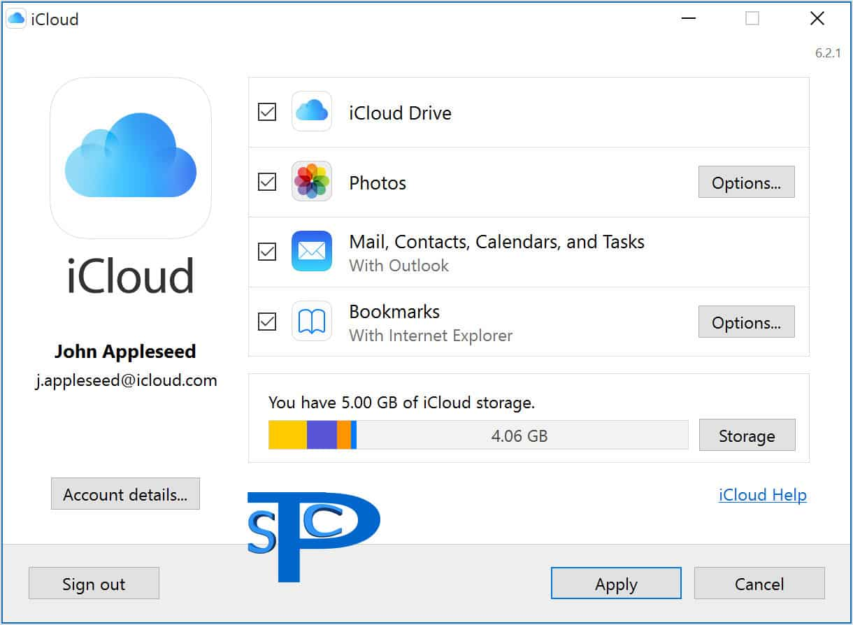 دانلود آیکلاد iCloud برای ویندوز کامپیوتر پی سی PC