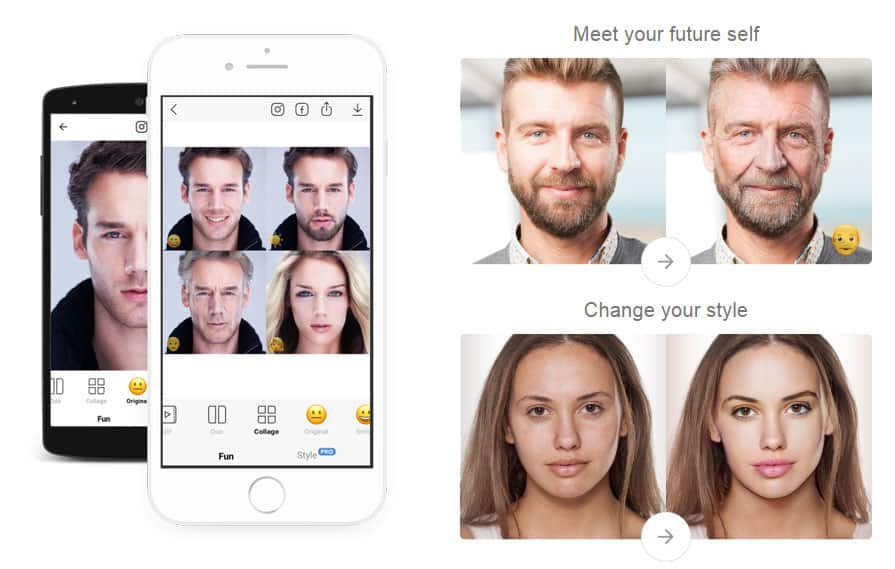 دانلود نرم افزار فیس اپ FaceApp » چالش پیری – تغییر چهره هوشمند