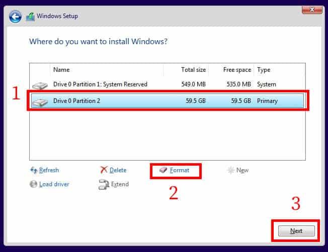 آموزش نصب ویندوز 10 - پارتیشن بندی هارد دیسک