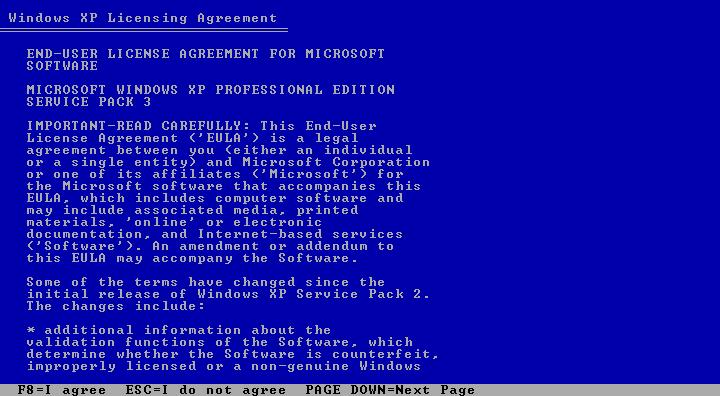 آموزش نصب ویندوز XP SP3