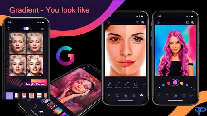 دانلود برنامه Gradient شبیه کدوم بازیگری + You look like + Mod گرادینت برای اندروید و آیفون (iOS)