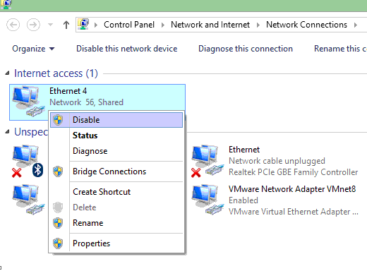 ریست تنظیمات شبکه ویندوز 7 10 8.1