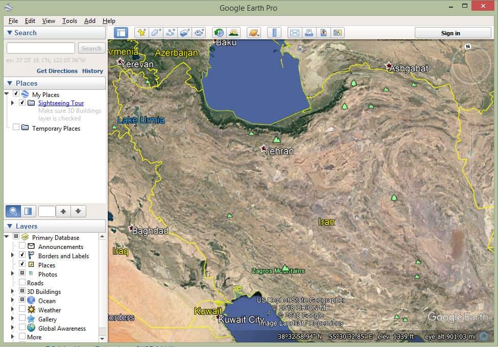 دانلود گوگل ارث برای کامپیوتر - Google Earth Pro v7.3.2
