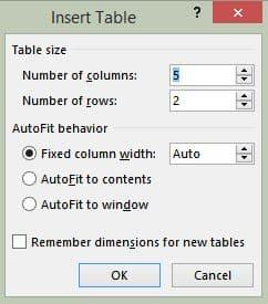 آموزش رسم جدول در ورد word